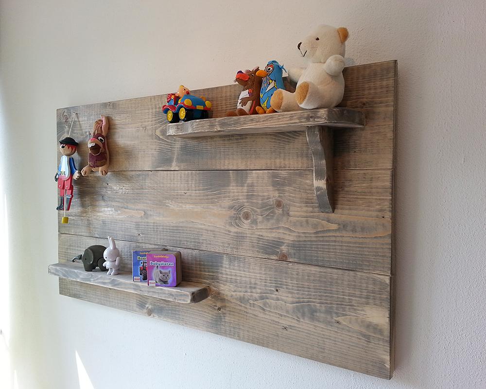Acc wandbord van steigerhout voor de kinderkamer jorwood furniture