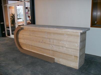 Winkel balie steigerhout