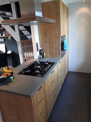Keuken eikenhout vloerdelen